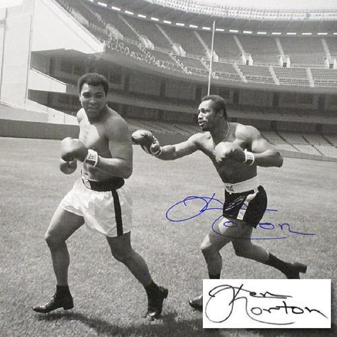 "Must-Have Signed Sports Photo! ""Ken Norton and Ali - 3"