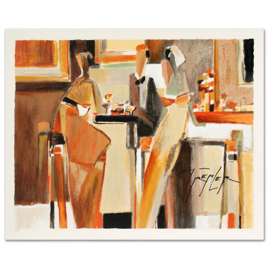 Bar Scene I Limited Edition Serigraph by Yuri Tremler