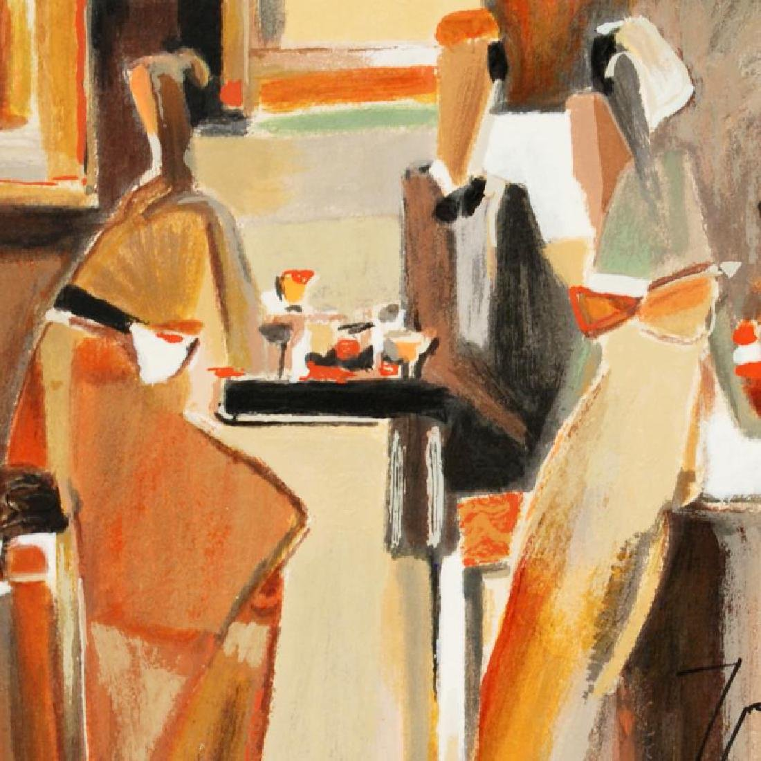 Bar Scene I Limited Edition Serigraph by Yuri Tremler - 3