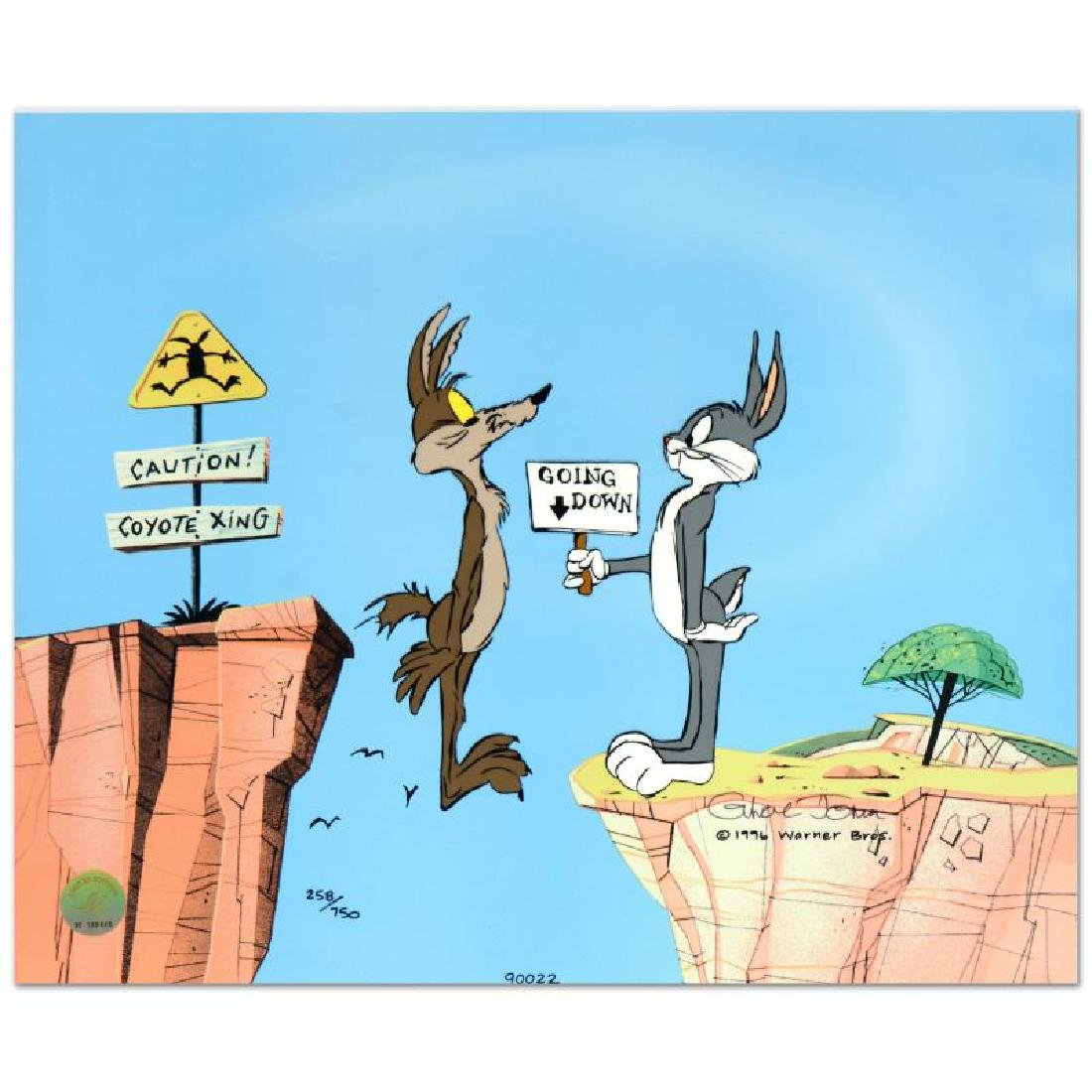 """Chuck Jones (1912-2002) - """"Coyote Crossing"""" SOLD OUT"""