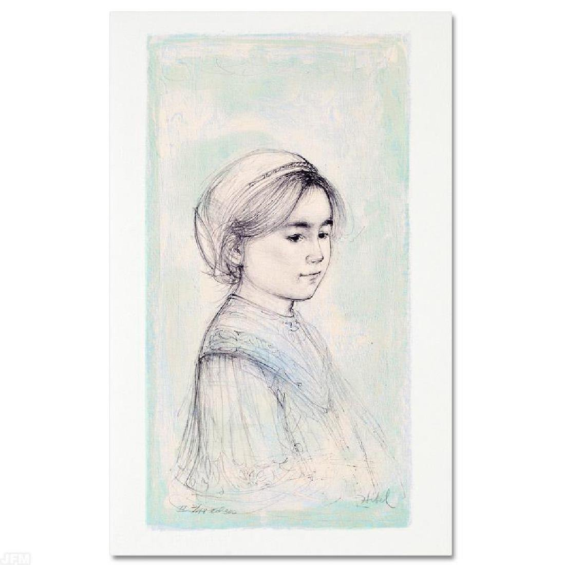 """Ursina"" LIMITED EDITION Lithograph by Edna Hibel"