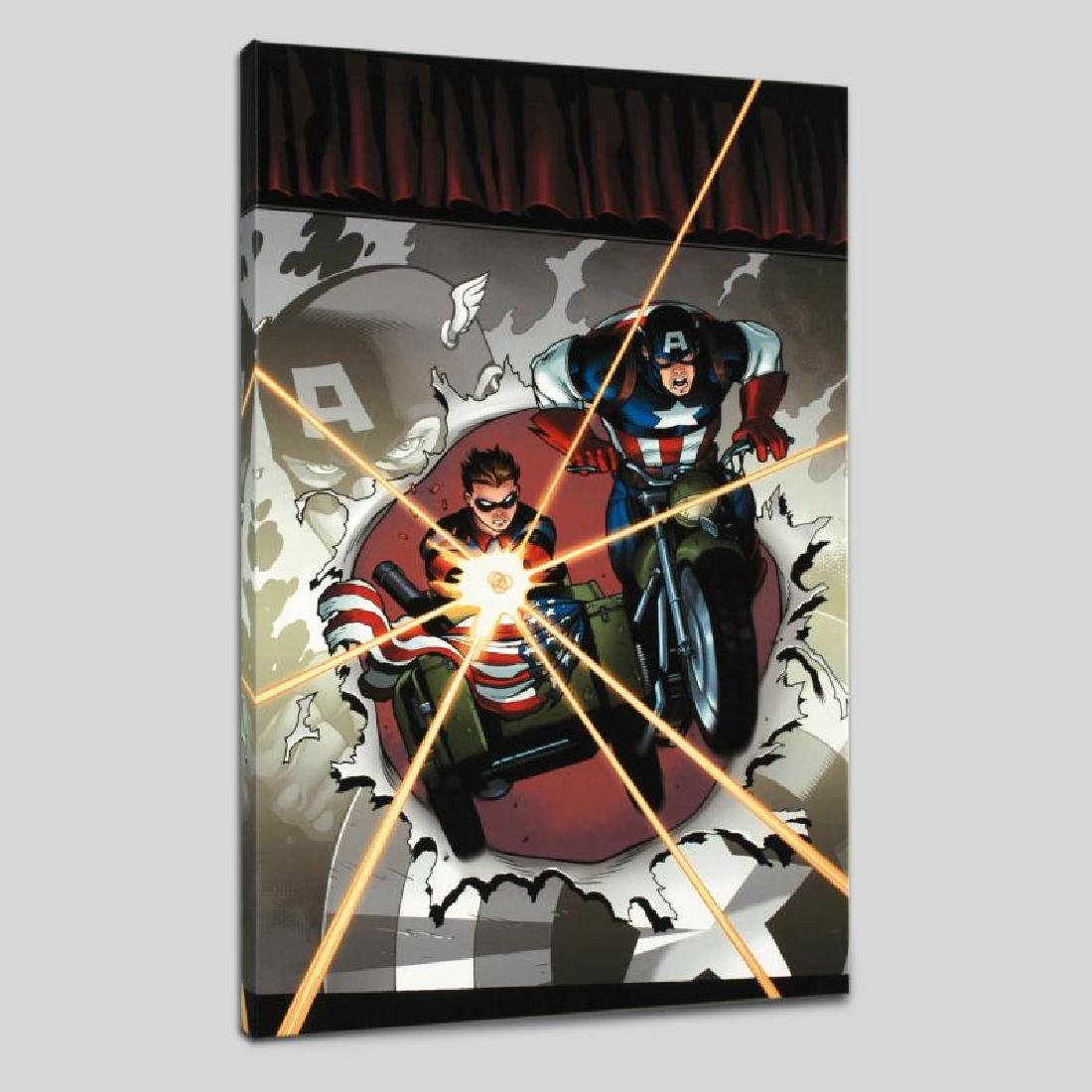 """""""Captain America and Bucky #621"""" LIMITED EDITION Giclee - 3"""