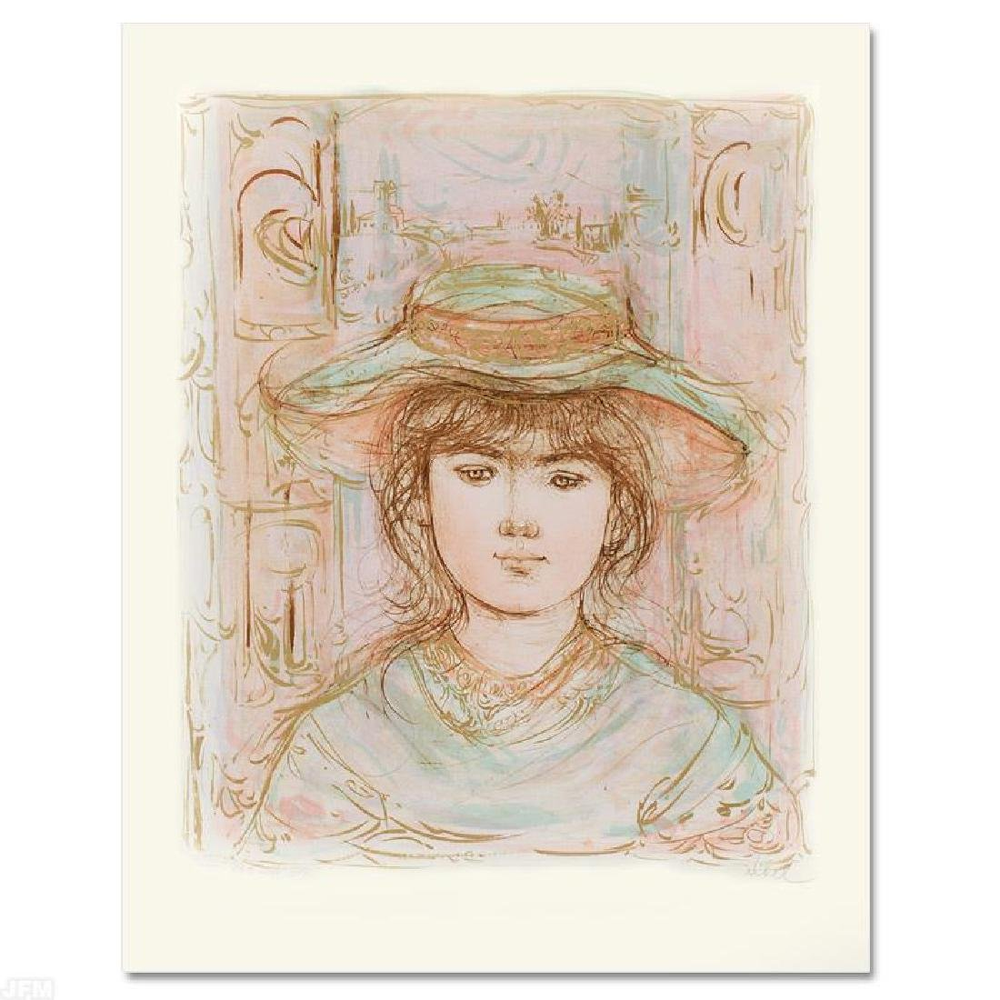 """January"" Limited Edition Lithograph by Edna Hibel"
