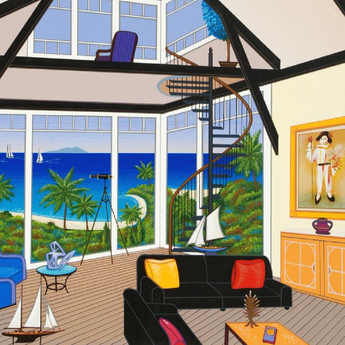 Duplex Over Stinson Limited Edition Serigraph by Fanch - 4