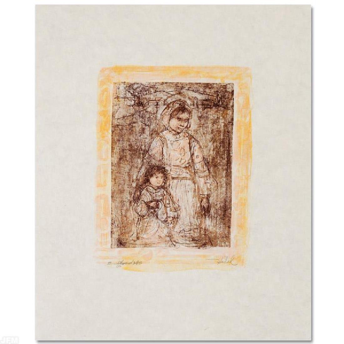 """Michelle and Nana"" Limited Edition Lithograph by Edna"