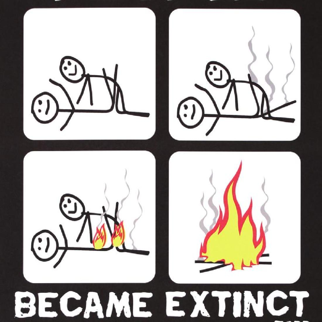 """""""How Stick People Became Extinct"""" Fine Art Litho Poster - 2"""