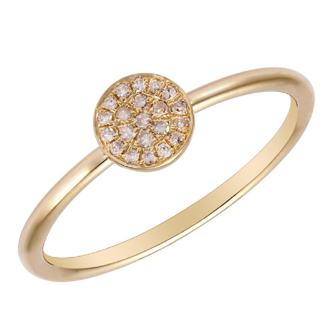 14KT Yellow Gold Women's Diamond Ring - 2