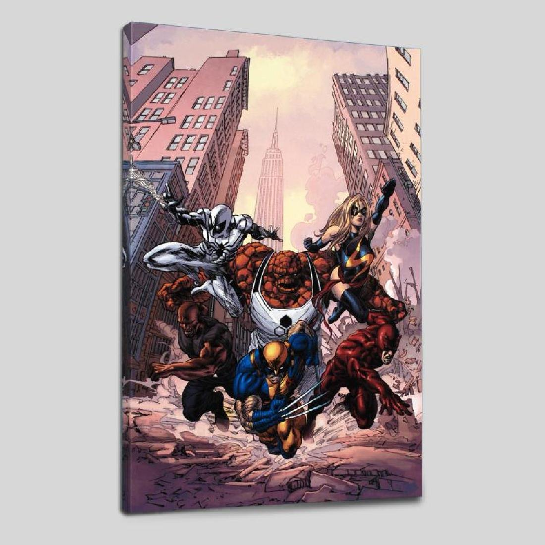 """New Avengers #17"" LIMITED EDITION Giclee on Canvas by"