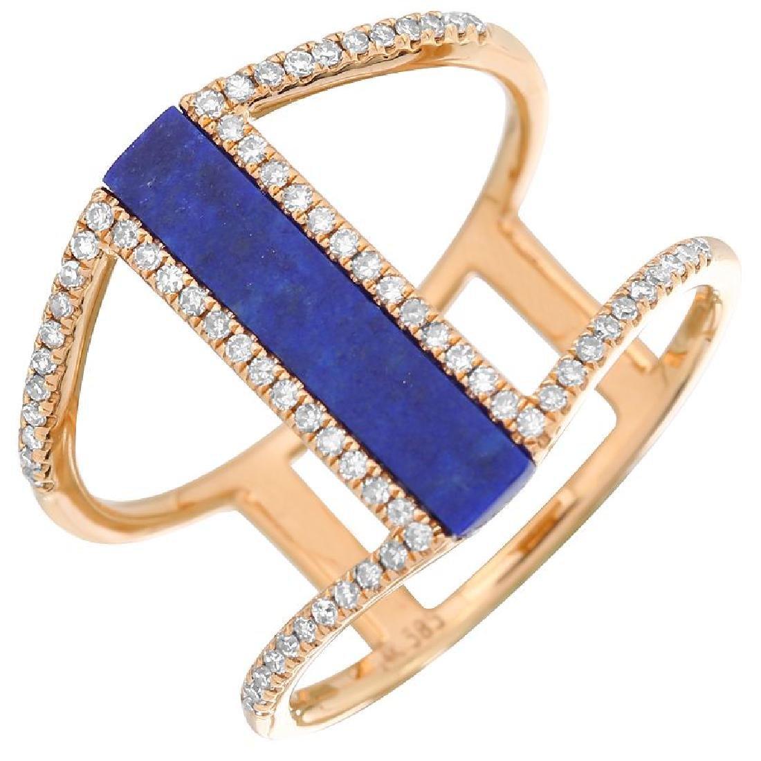 14KT Rose Gold Gemstone Ring - 2