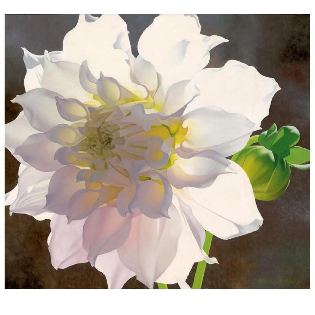 "Brian Davis - ""Pale Pink Dahlia"" Limited Edition Giclee"