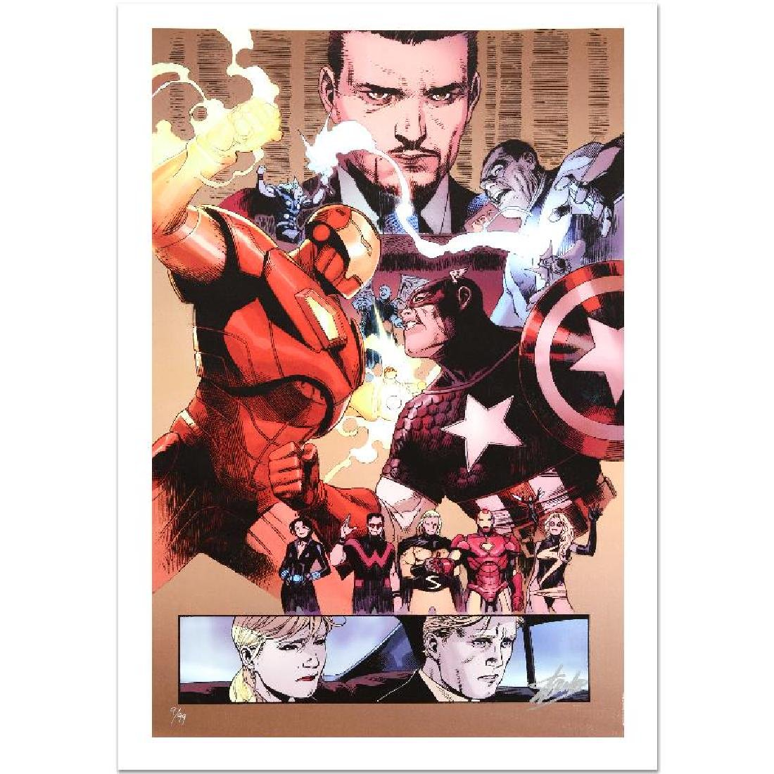 """""""New Avengers #48"""" Limited Edition Giclee on Canvas by"""