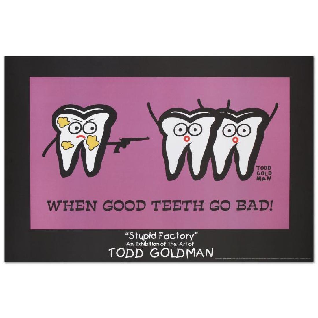 """When Good Teeth Go Bad"" Fine Art Litho Poster (36"" x"