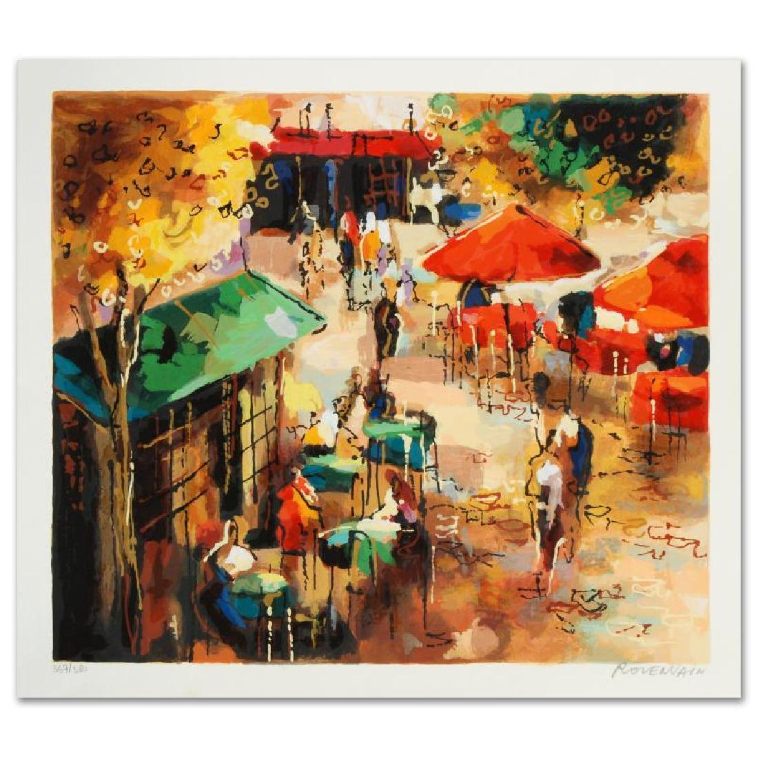 Street Scene Limited Edition Serigraph by Michael