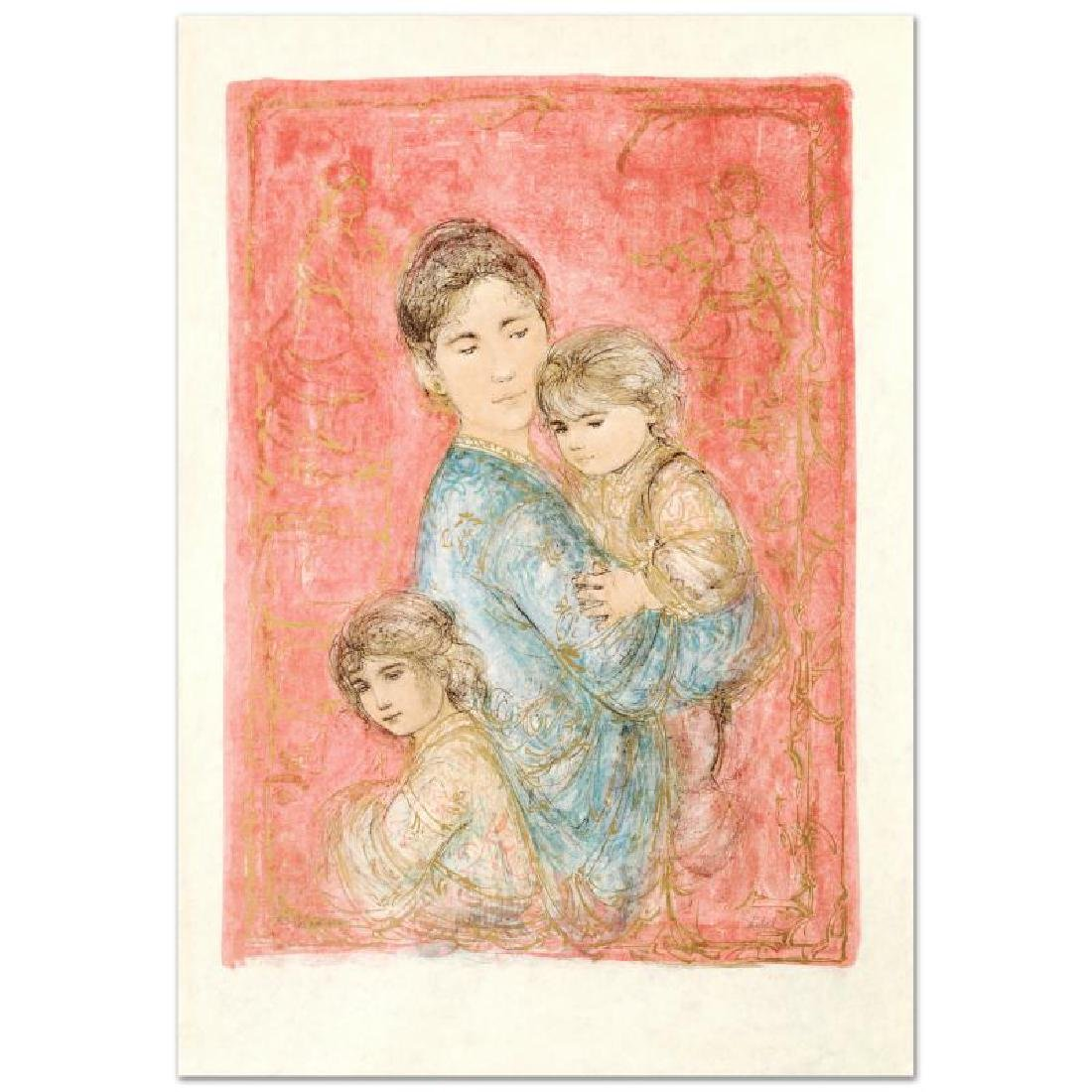 """""""Sonya and Family"""" Limited Edition Lithograph by Edna - 3"""