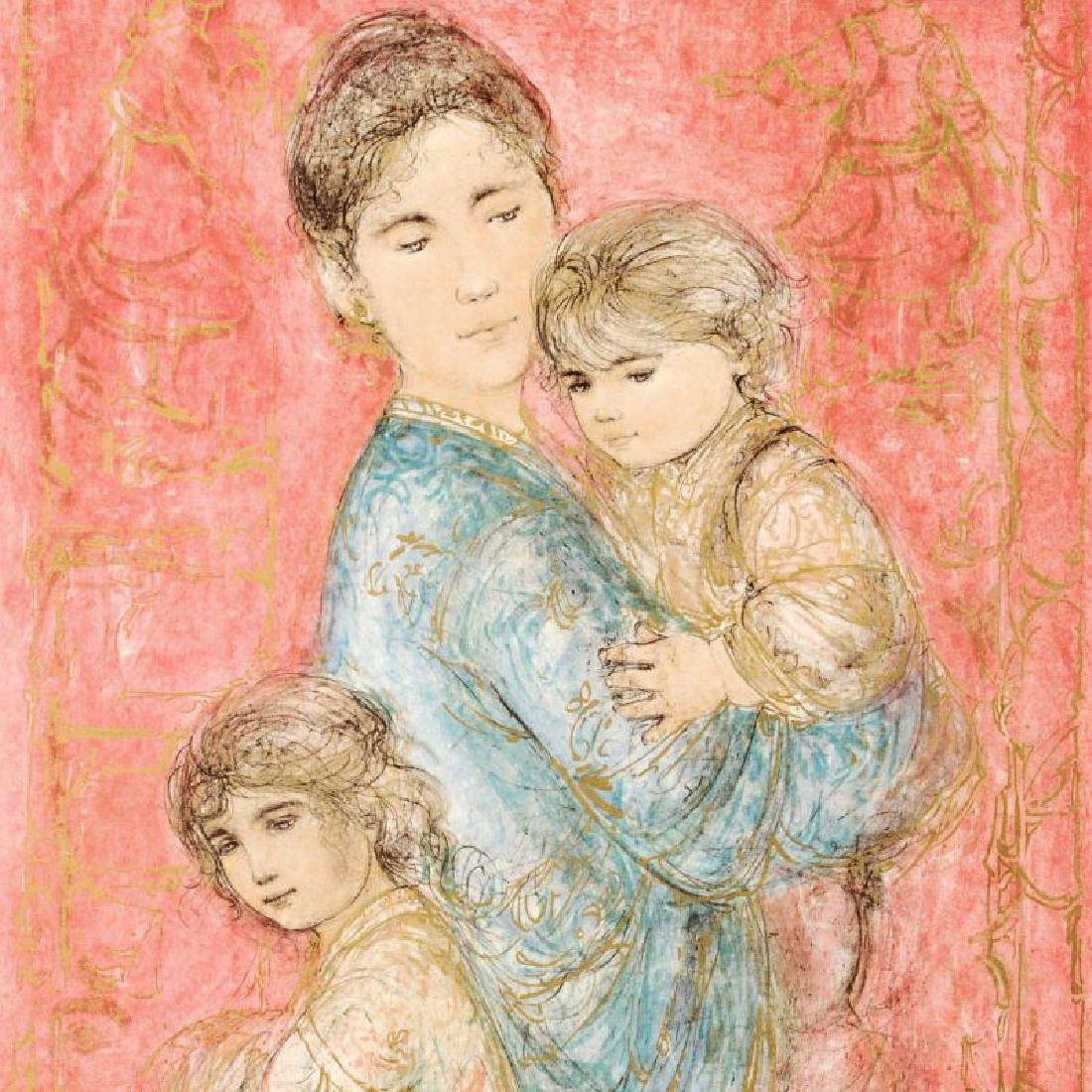 """""""Sonya and Family"""" Limited Edition Lithograph by Edna - 4"""