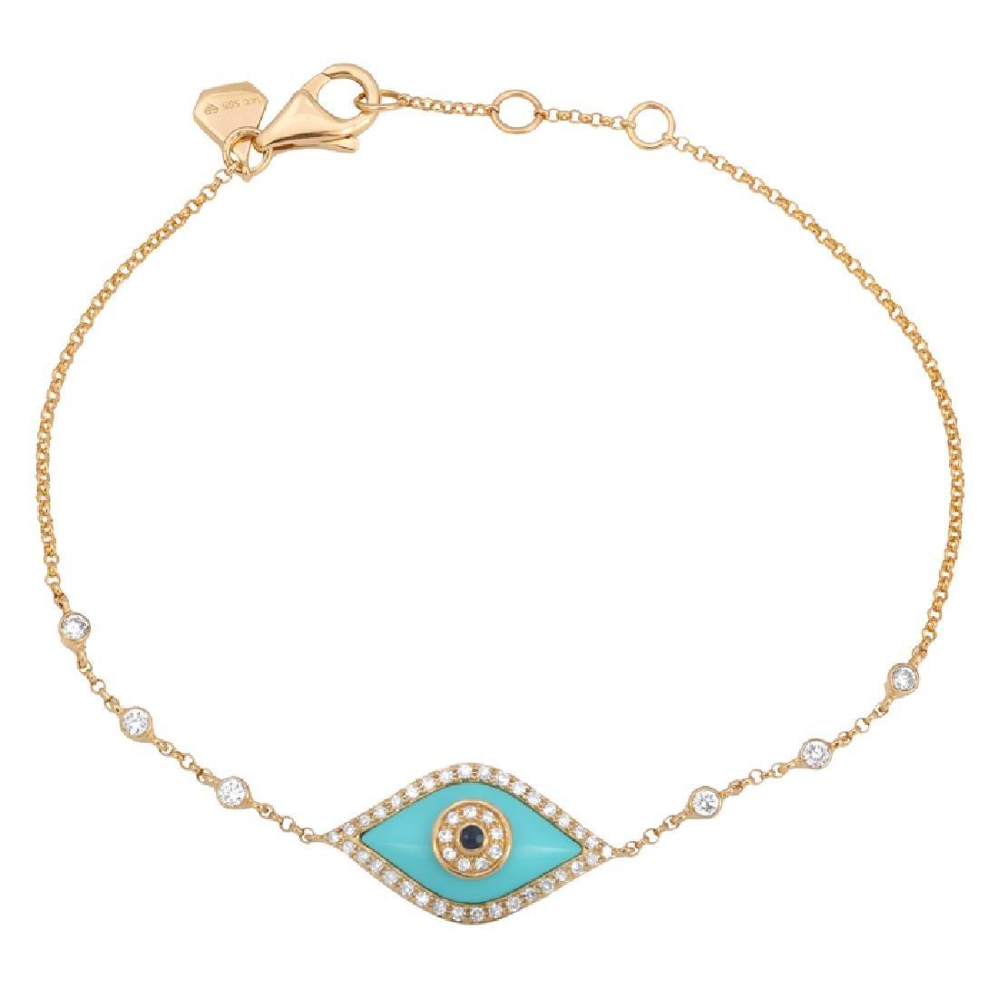 14KT Yellow Gold Gemstone Bracelet