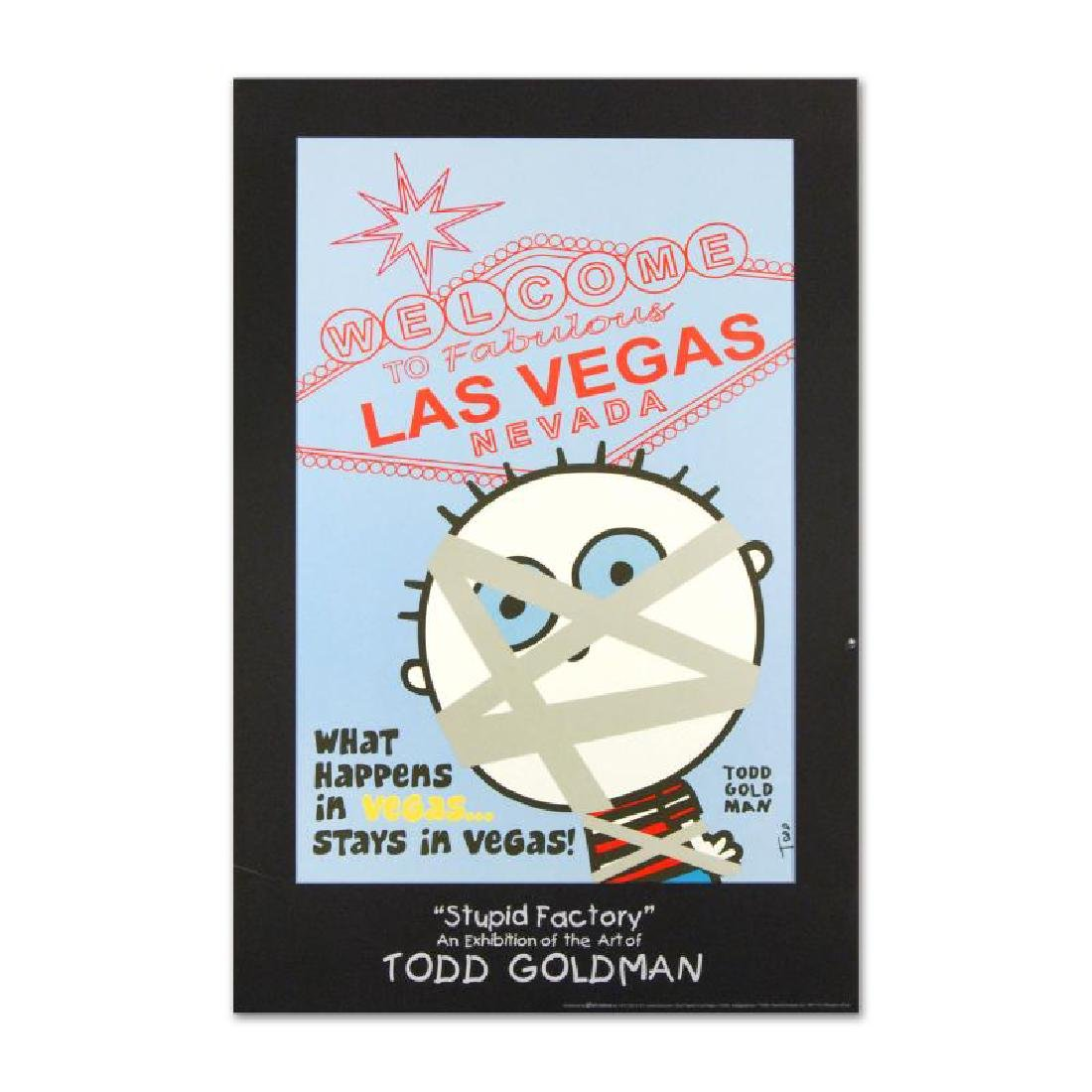 """What Happens in Vegas..."" FINE ART Litho Poster Hand"