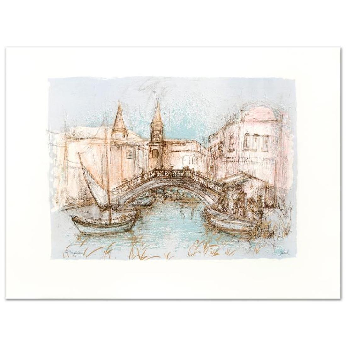 """Chioggia"" Limited Edition Lithograph by Edna Hibel"