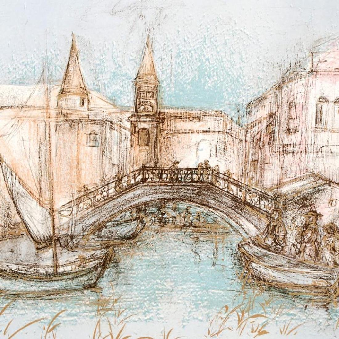"""Chioggia"" Limited Edition Lithograph by Edna Hibel - 4"