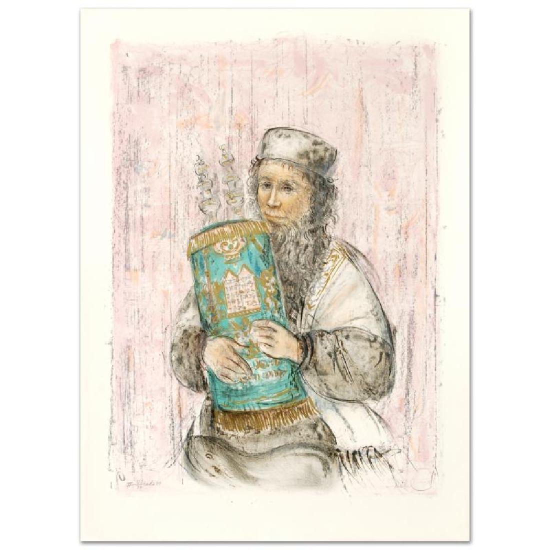 """""""Israeli Rabbi"""" Limited Edition Lithograph by Edna - 3"""