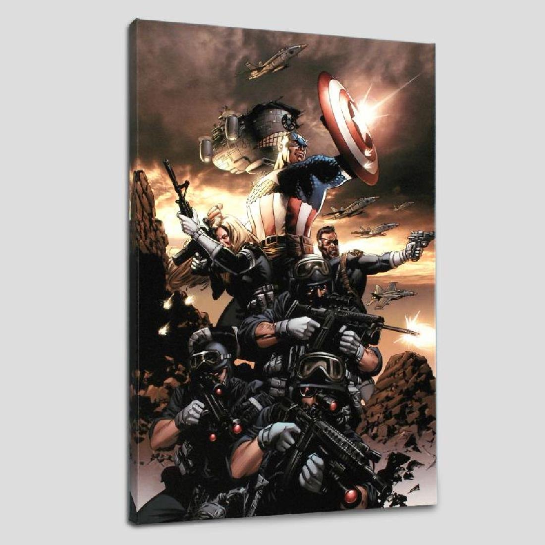 """Captain America N9"" LIMITED EDITION Giclee on Canvas"