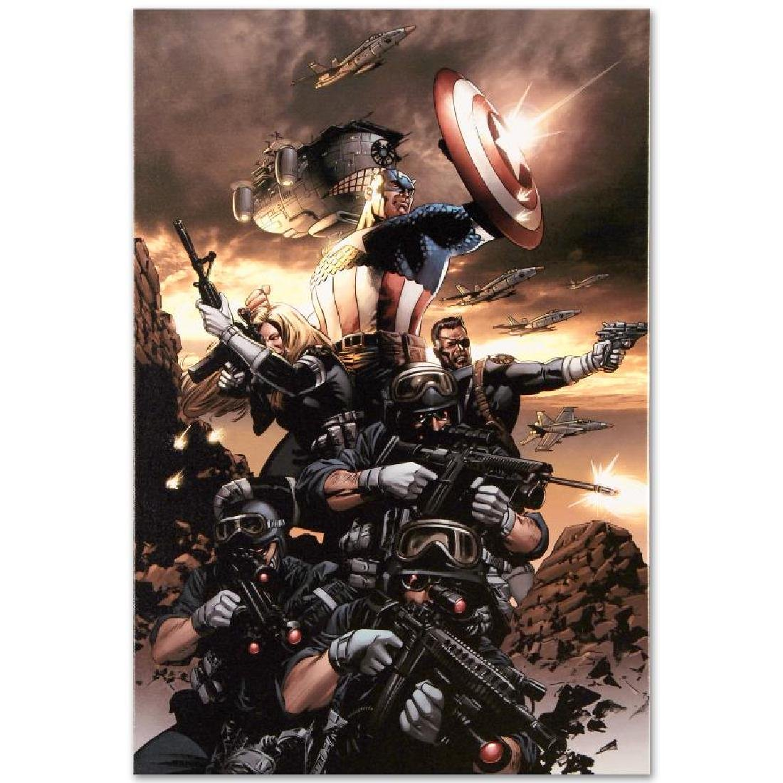 """Captain America N9"" LIMITED EDITION Giclee on Canvas - 2"