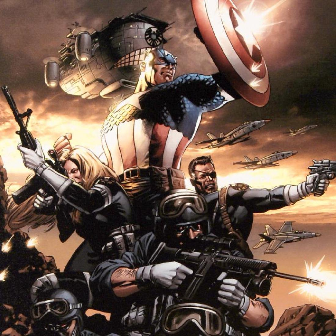 """Captain America N9"" LIMITED EDITION Giclee on Canvas - 4"