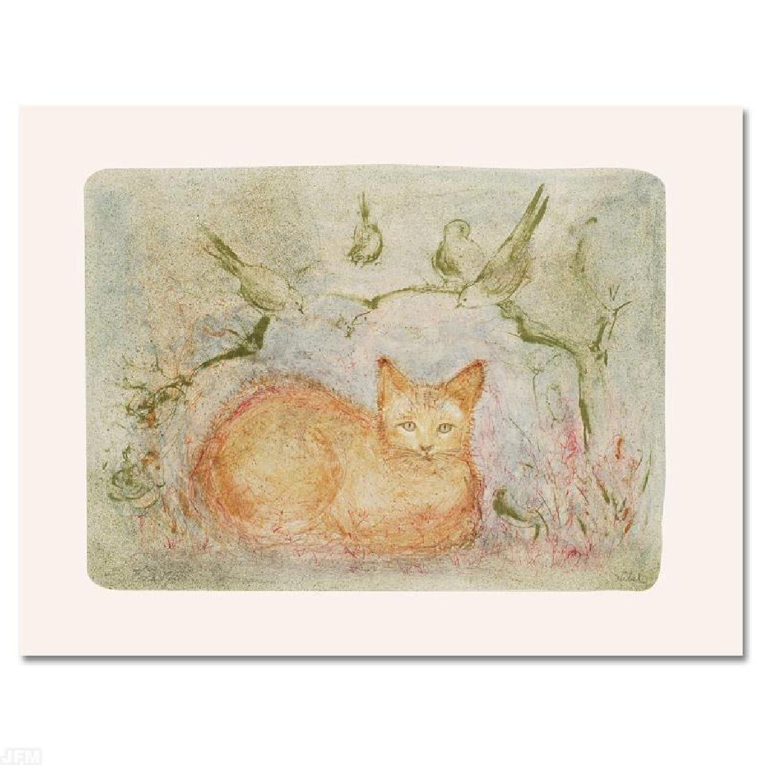 """Pumbit the Cat"" Limited Edition Lithograph by Edna"