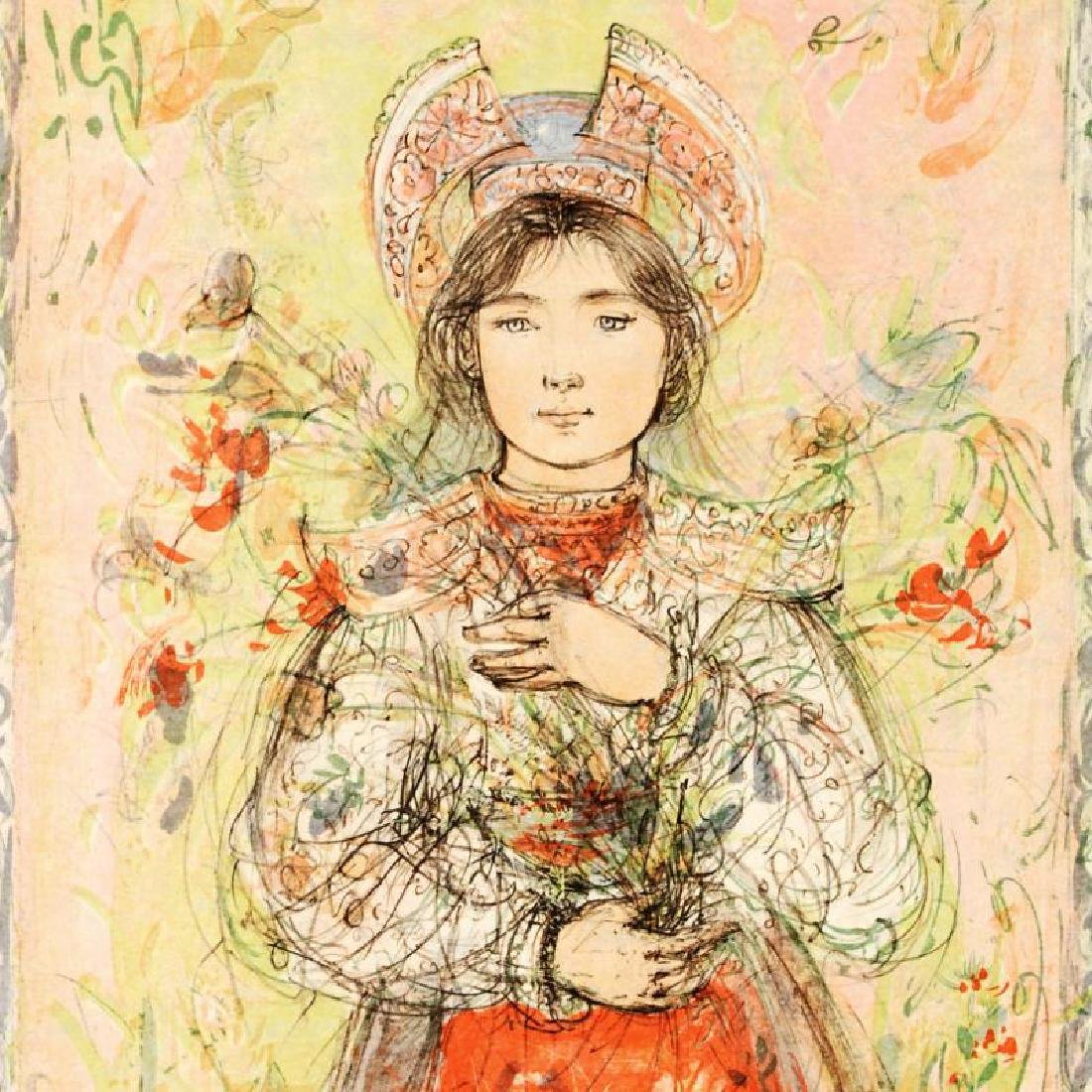 """""""Tonnette"""" Limited Edition Lithograph by Edna Hibel - 2"""