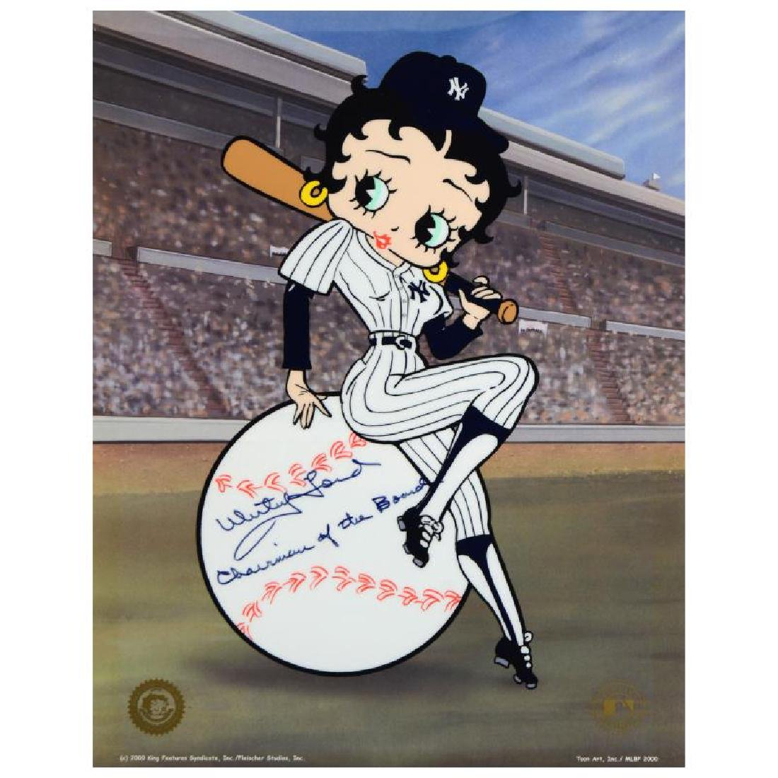 """Betty on Deck - Yankees"" Limited Edition Sericel from - 3"