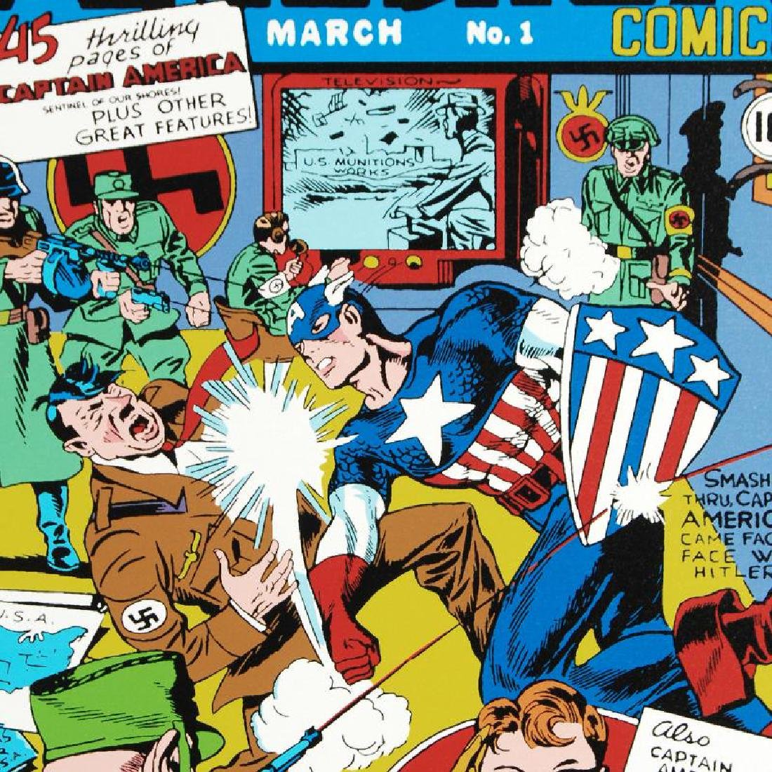 """""""Captain America Comics #1"""" LIMITED EDITION Giclee on - 5"""