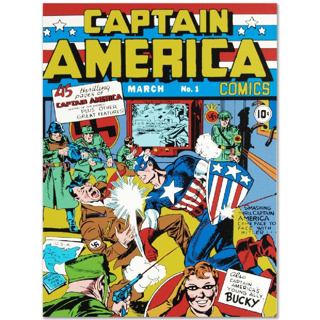"""Captain America Comics #1"" LIMITED EDITION Giclee on - 6"