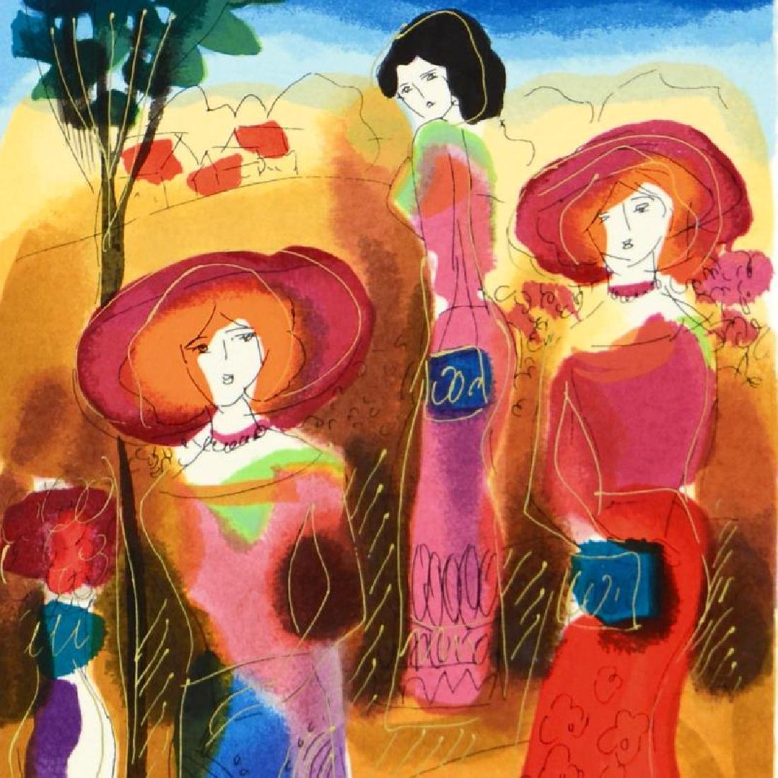 Promenade Limited Edition Serigraph by Moshe Leider - 4