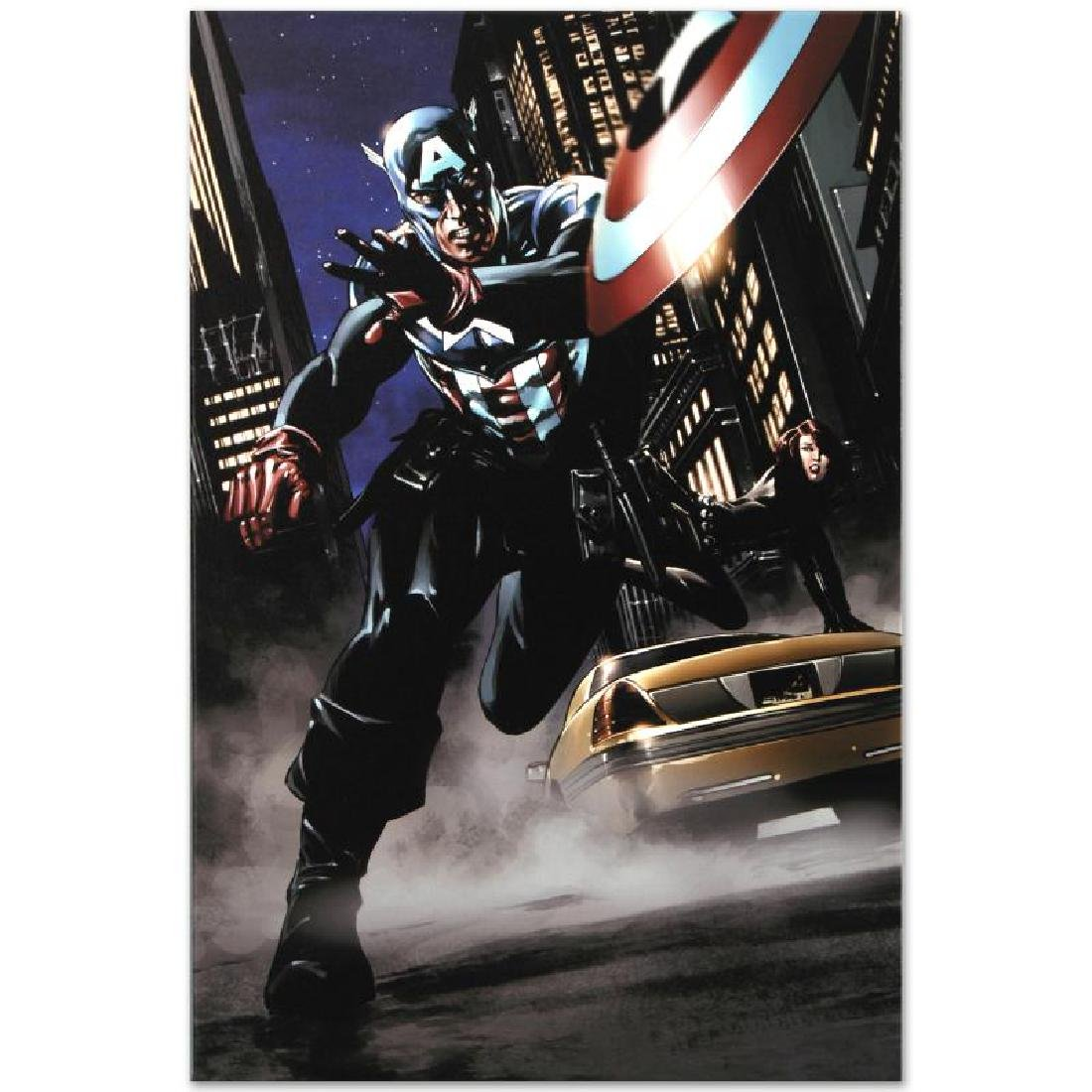 """Captain America #34"" Limited Edition Giclee on Canvas - 2"