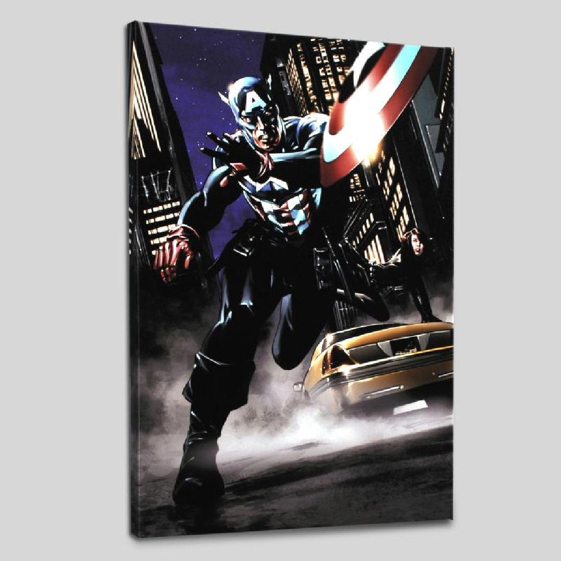"""Captain America #34"" Limited Edition Giclee on Canvas - 3"