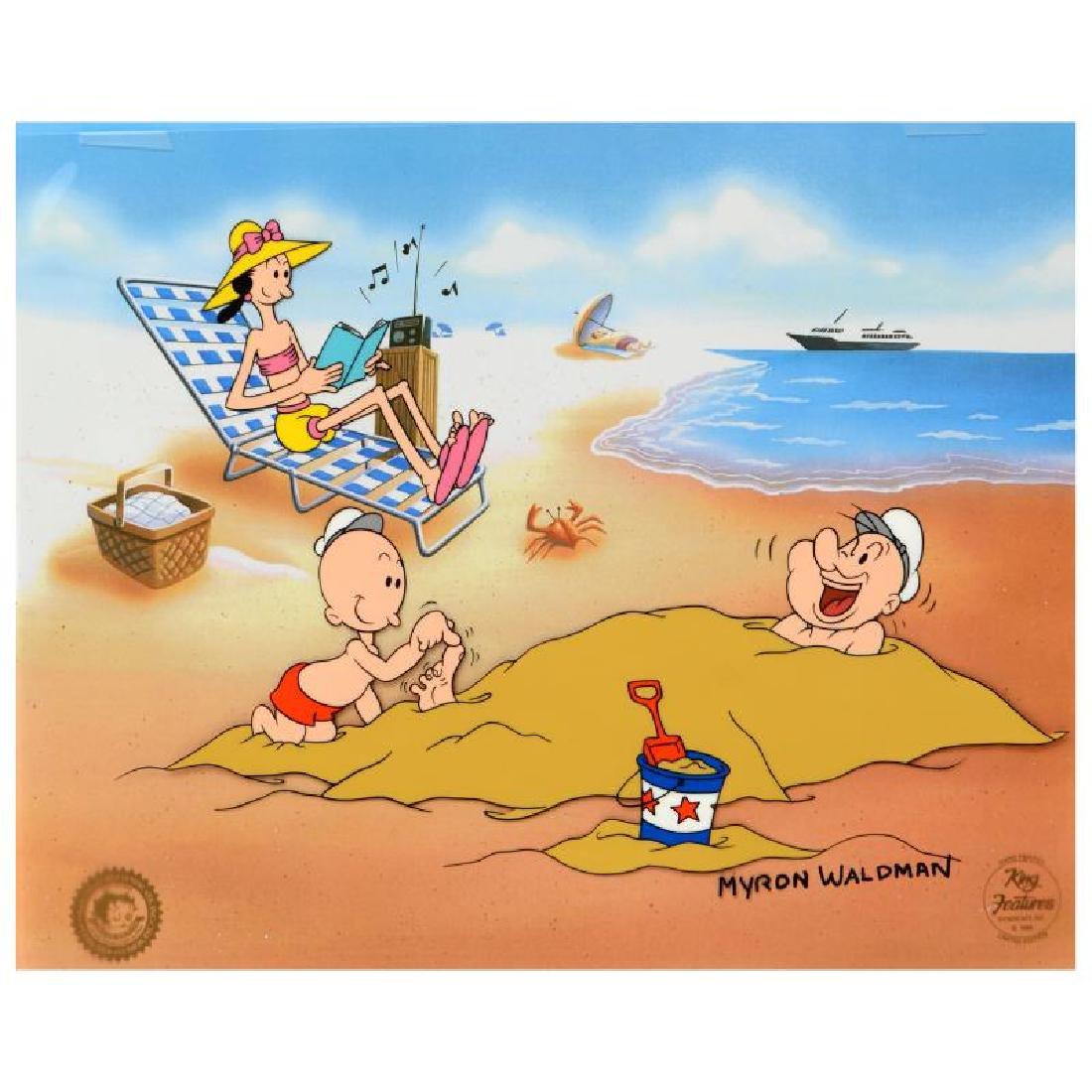 "Myron Waldman (1908-2006)! ""A Day At The Beach"" Limited"