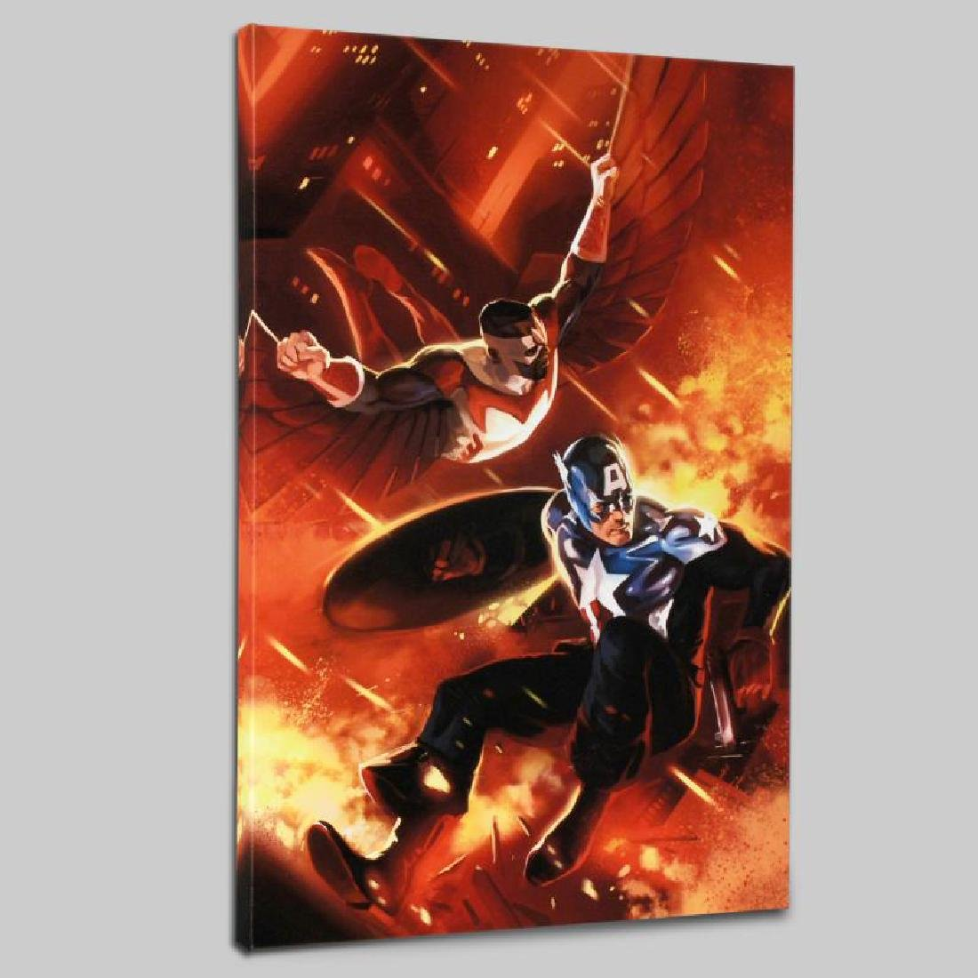 """Captain America #607"" Limited Edition Giclee on Canvas - 3"