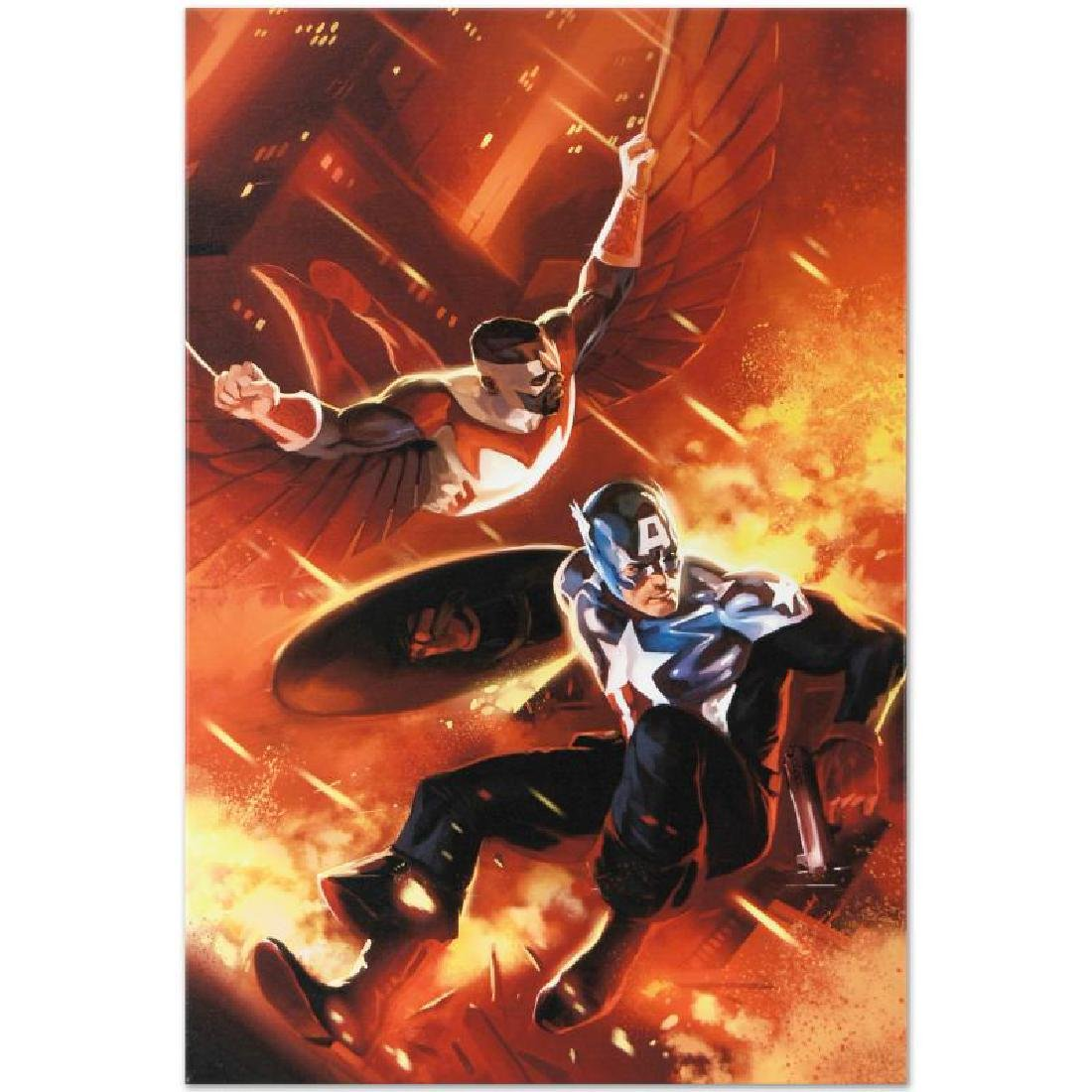 """""""Captain America #607"""" Limited Edition Giclee on Canvas - 6"""