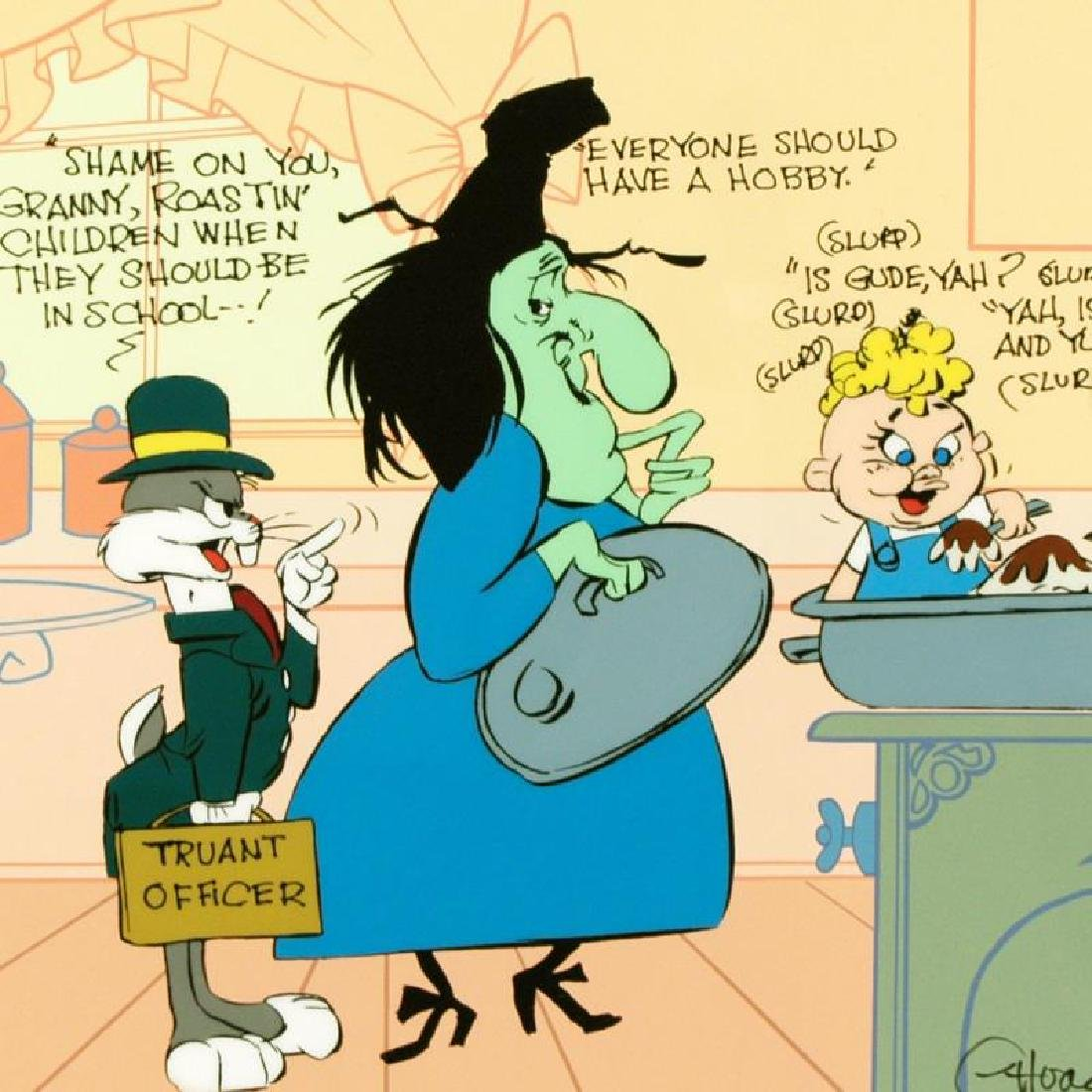 """""""Bugs and Witch Hazel: Truant Officer"""" by Chuck Jones - 4"""