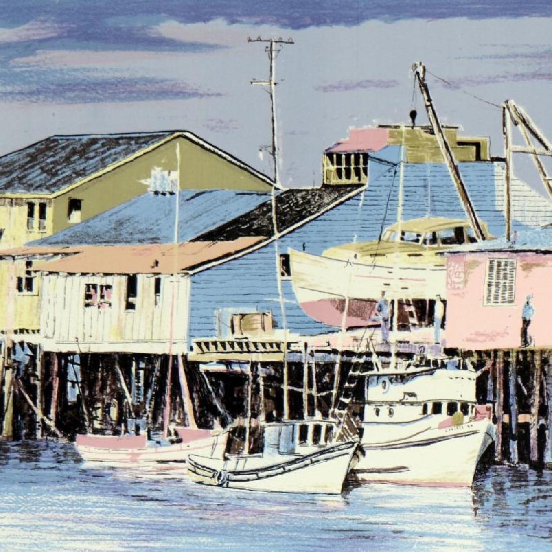 "William Nelson - ""Monterey Wharf"" Limited Edition - 2"
