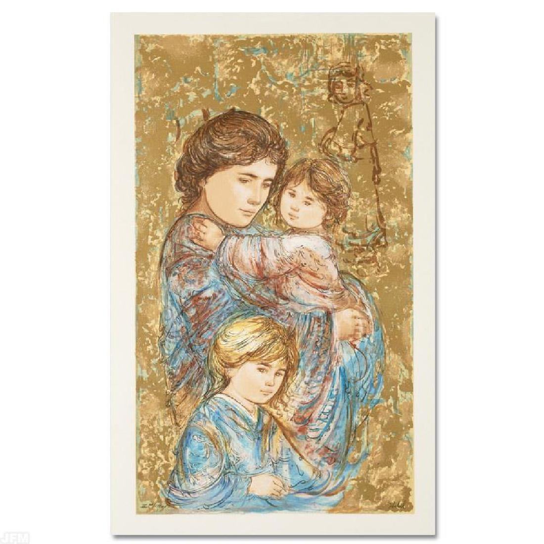 """Golden Times"" Limited Edition Serigraph by Edna Hibel"