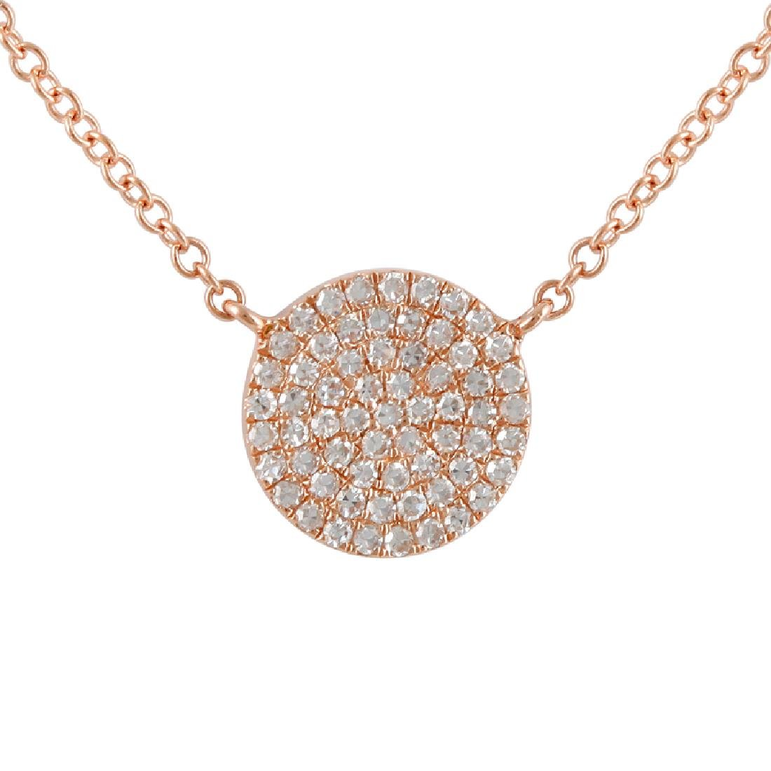 14KT Rose Gold Diamond Necklace