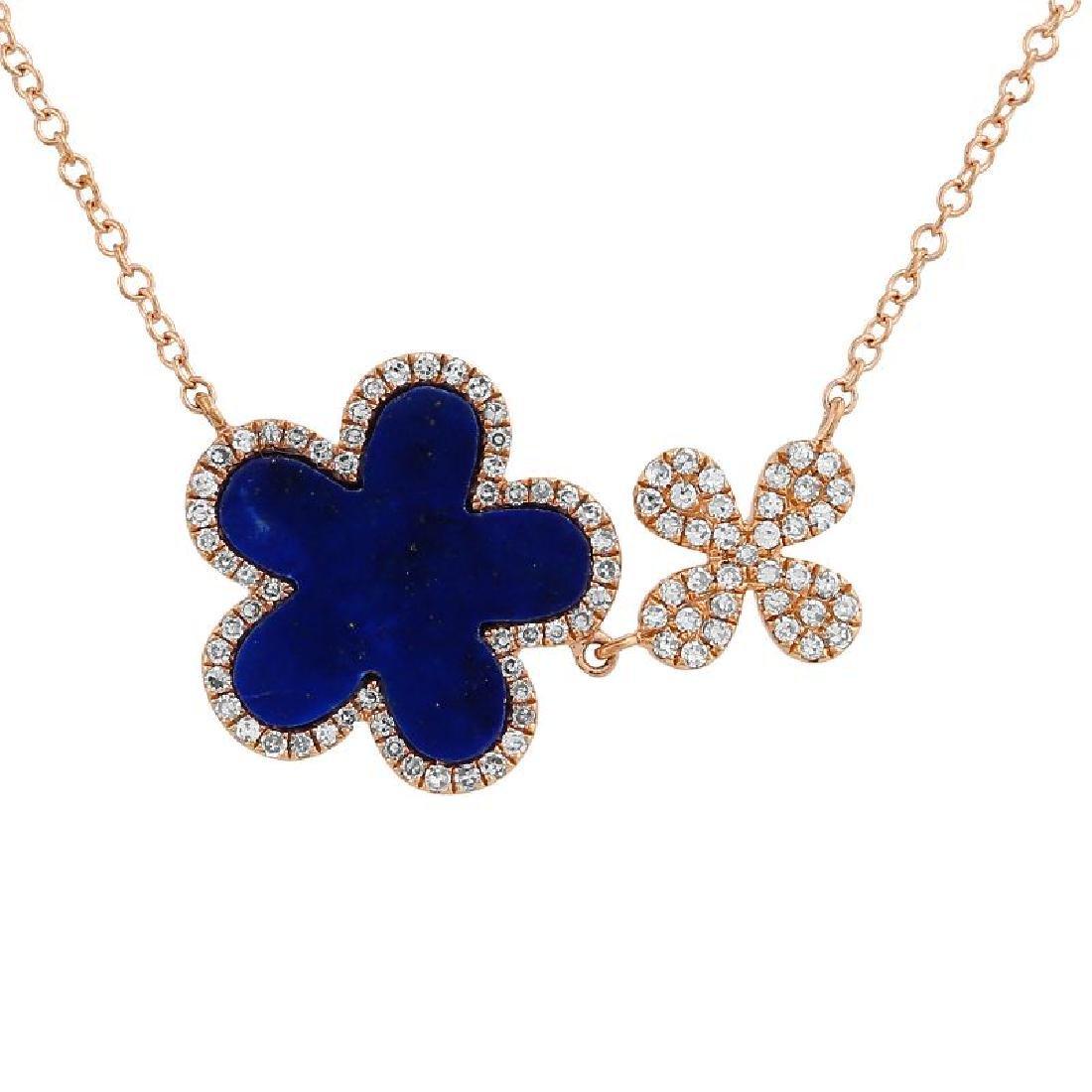 14KT Rose Gold Gemstone Necklace - 2