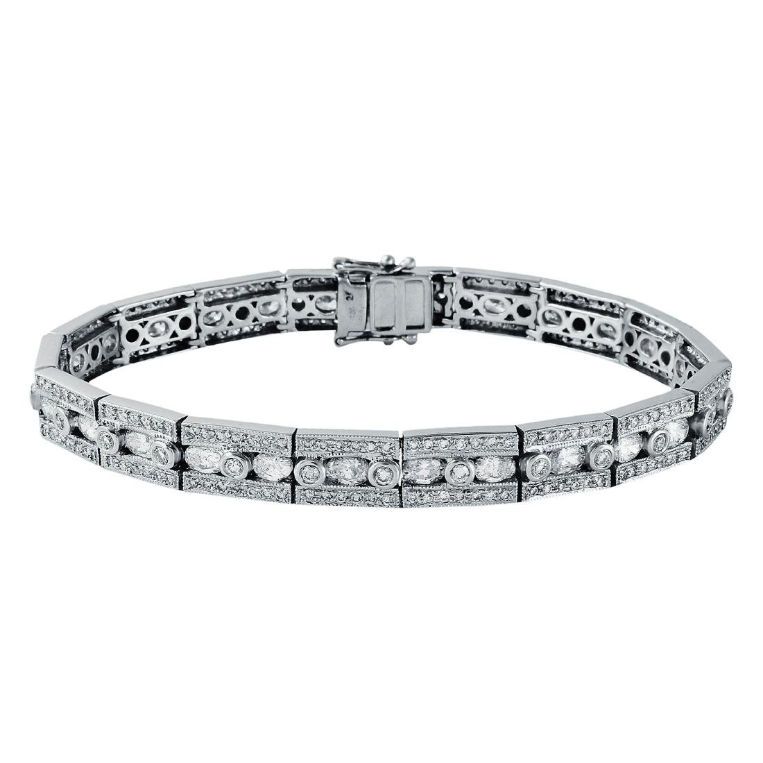 18KT White Gold Diamond Bracelet - 2