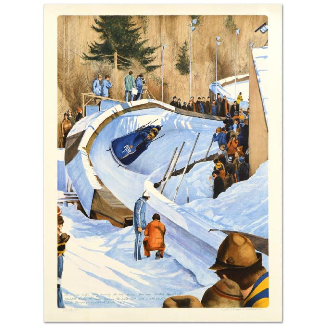 """William Nelson - """"4-Man Bobsled - 1976"""" Limited Edition"""