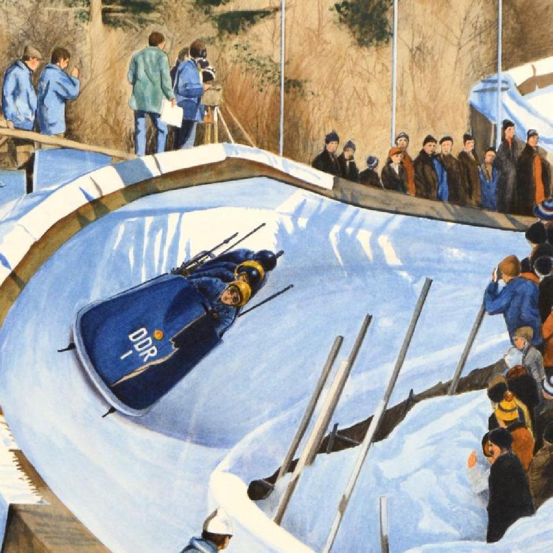 """William Nelson - """"4-Man Bobsled - 1976"""" Limited Edition - 4"""