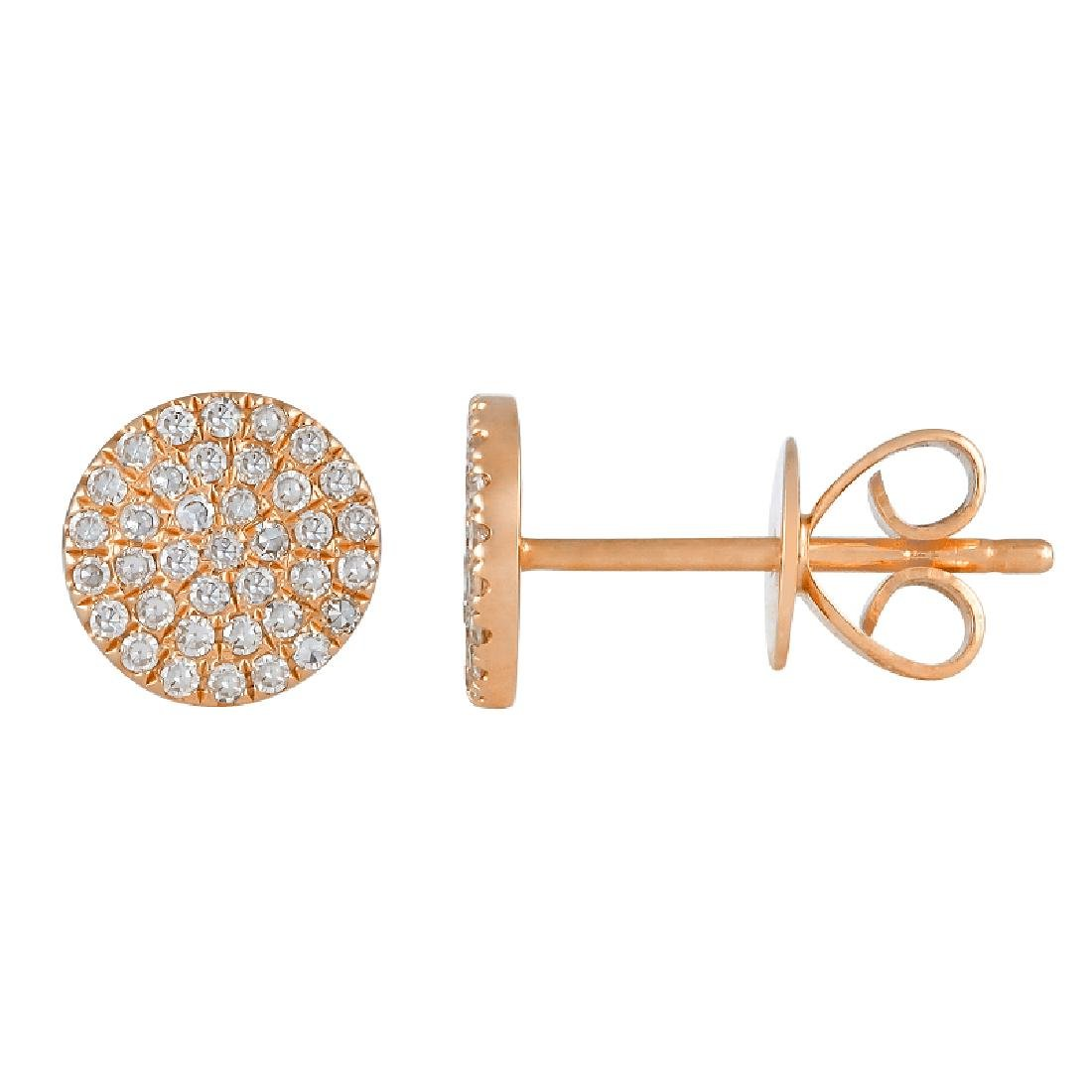 14KT Rose Gold Diamond Earrings