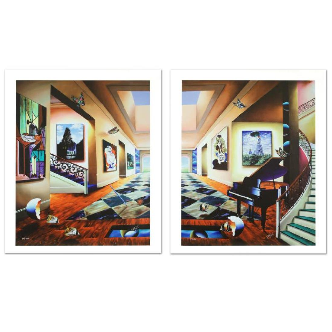"""Perfect Afternoon"" Limited Edition Giclee Diptych on"