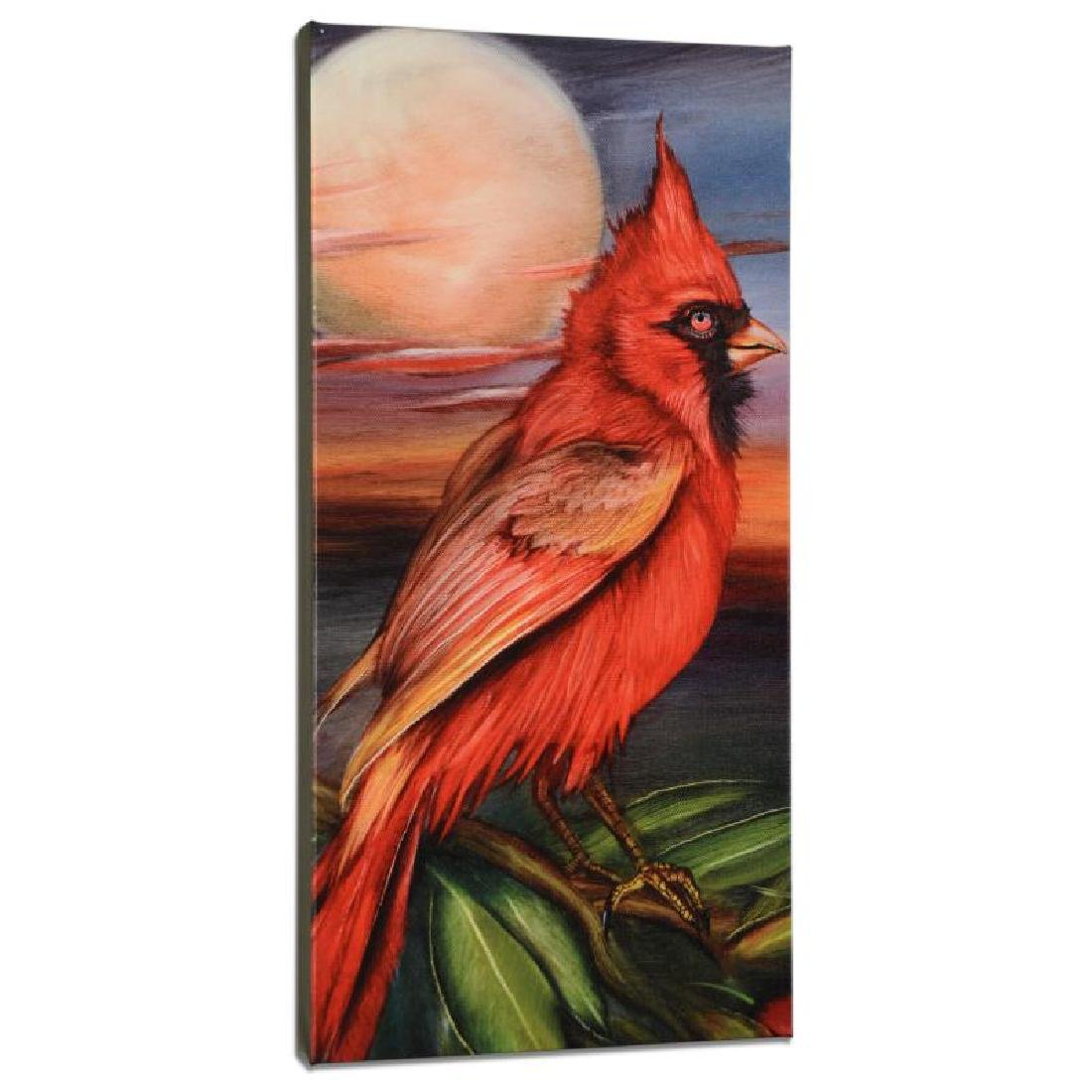 Cardinal Moon Limited Edition Giclee on Gallery Wrapped