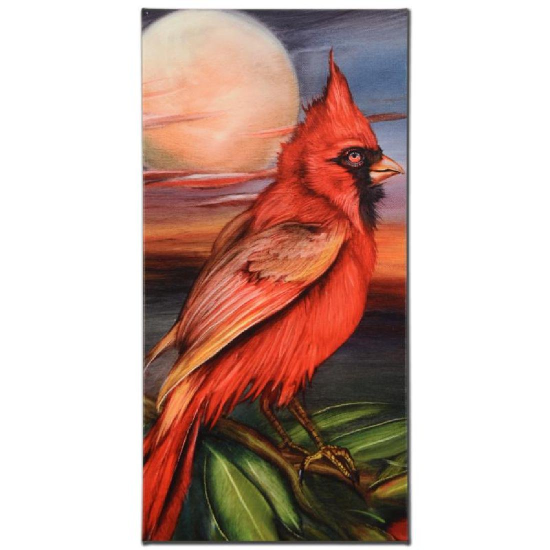 Cardinal Moon Limited Edition Giclee on Gallery Wrapped - 3